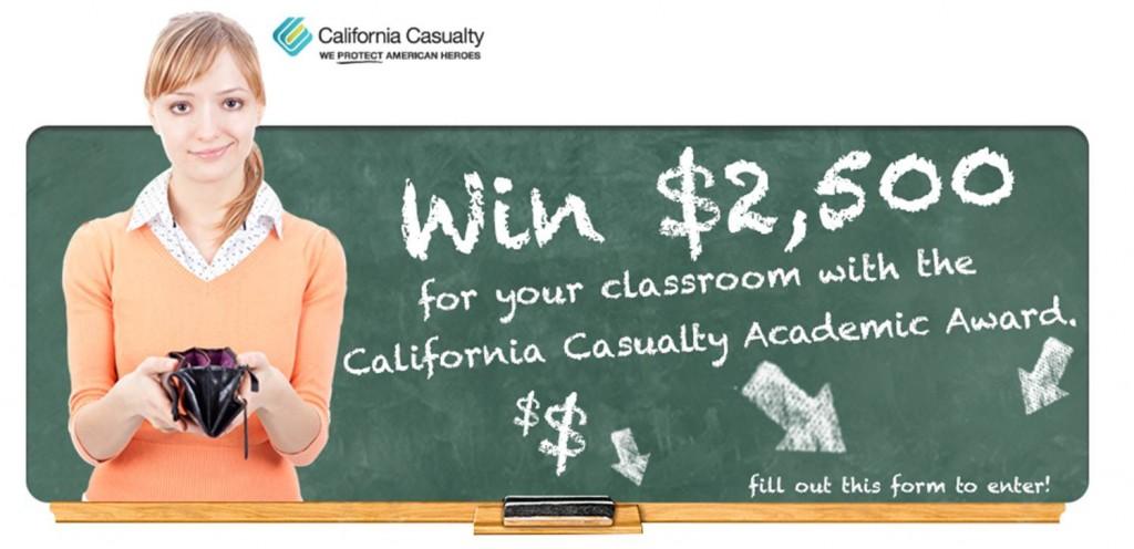 California Casualty Academic Award $2,500
