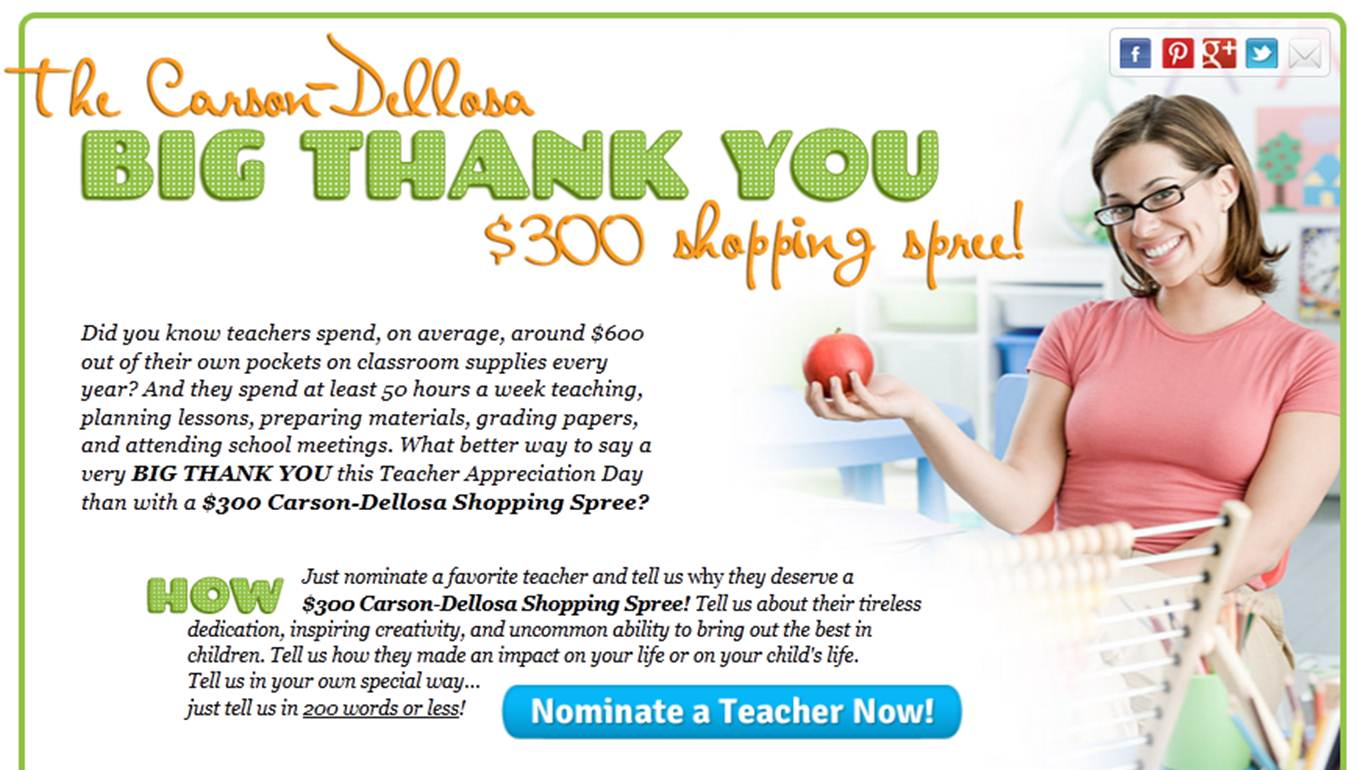 teacher of the year nomination essay