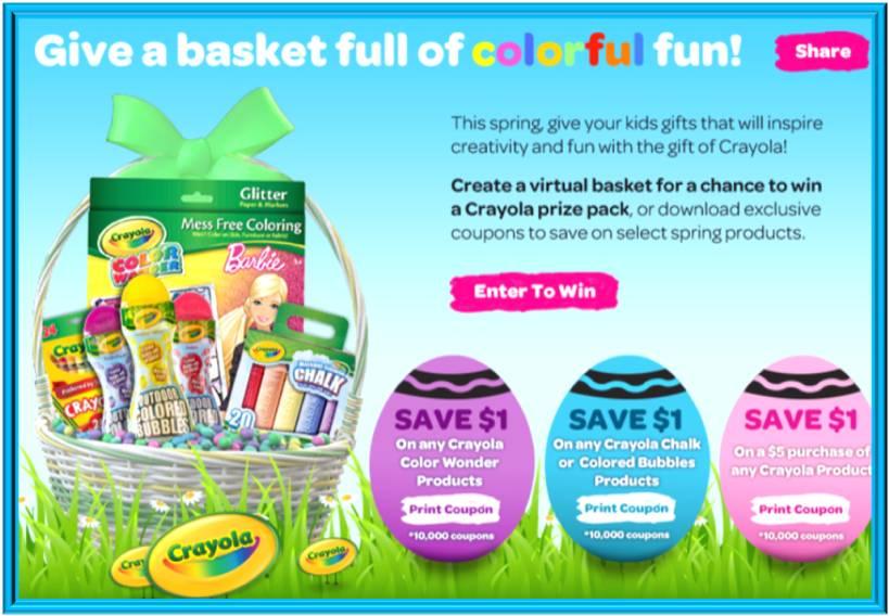 Crayola Springtime Sweepstakes (X 3/31/13)