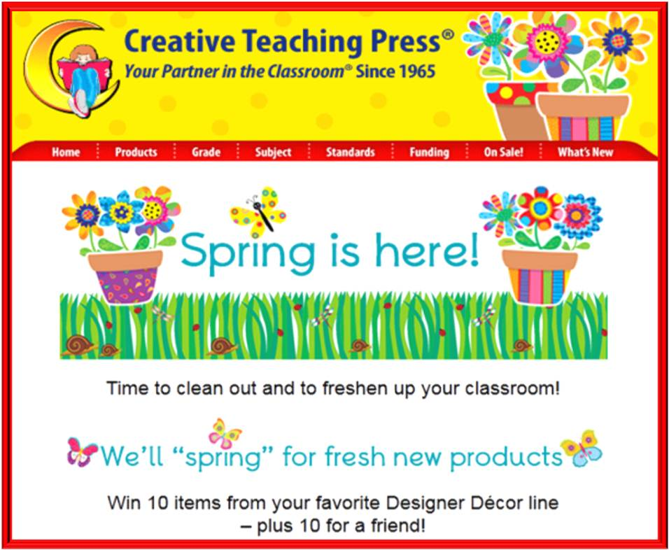 Creative Teaching Press Spring is Here Giveaway (X 3/26/13)