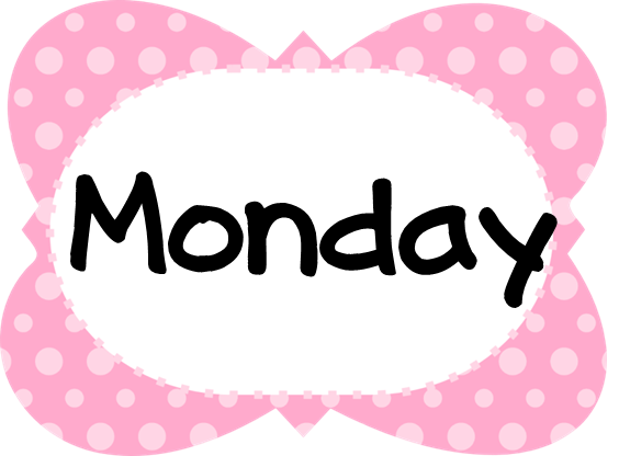 MondayPinkPolkaDotFrame