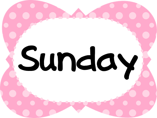 SundayPinkPolkaDotFrame