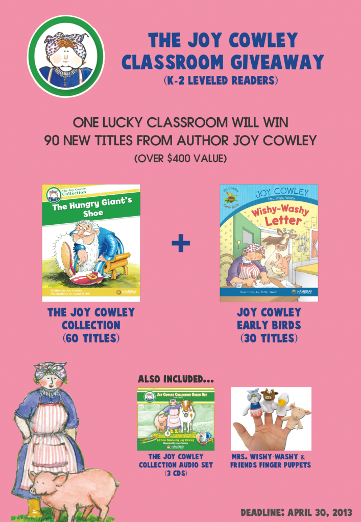 The Joy Cowley Classroom Giveaway (X 4/30/13)