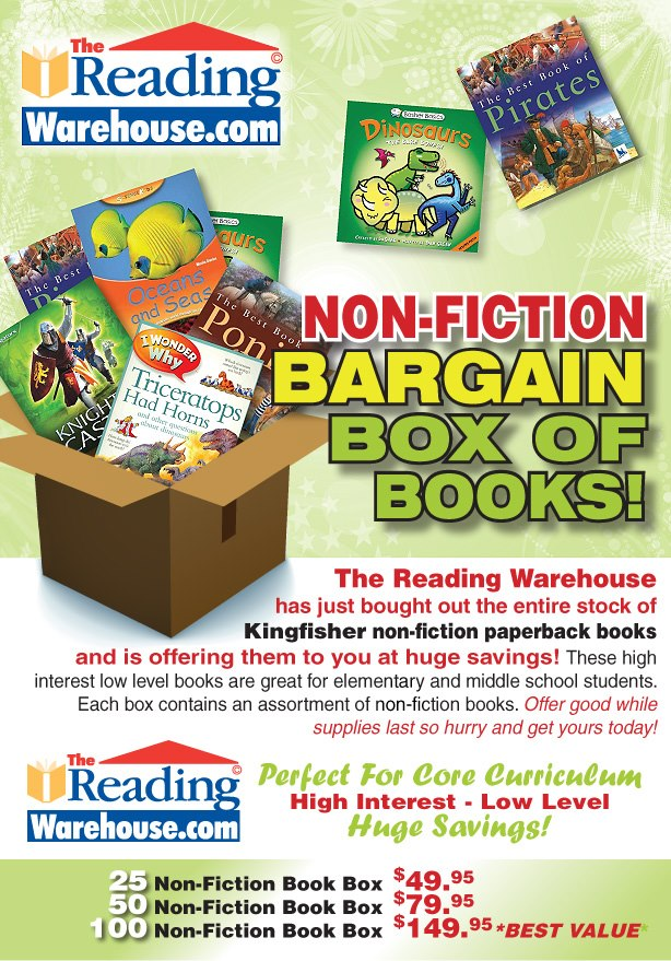 The Reading Warehouse Non-Fiction Bargain Box of Books Giveaway