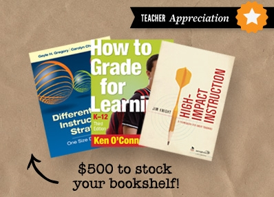 Edutopia Teacher Appreciation Corwin Press $500 Giveaway