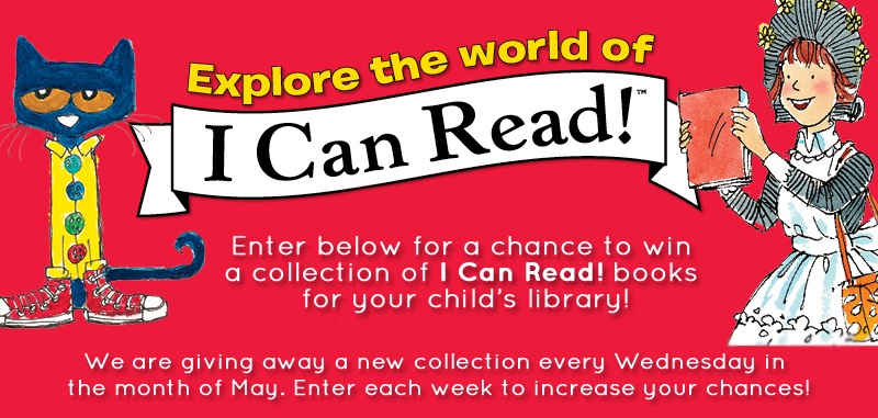 I Can Read! Weekly Giveaway (X 5/29/13)