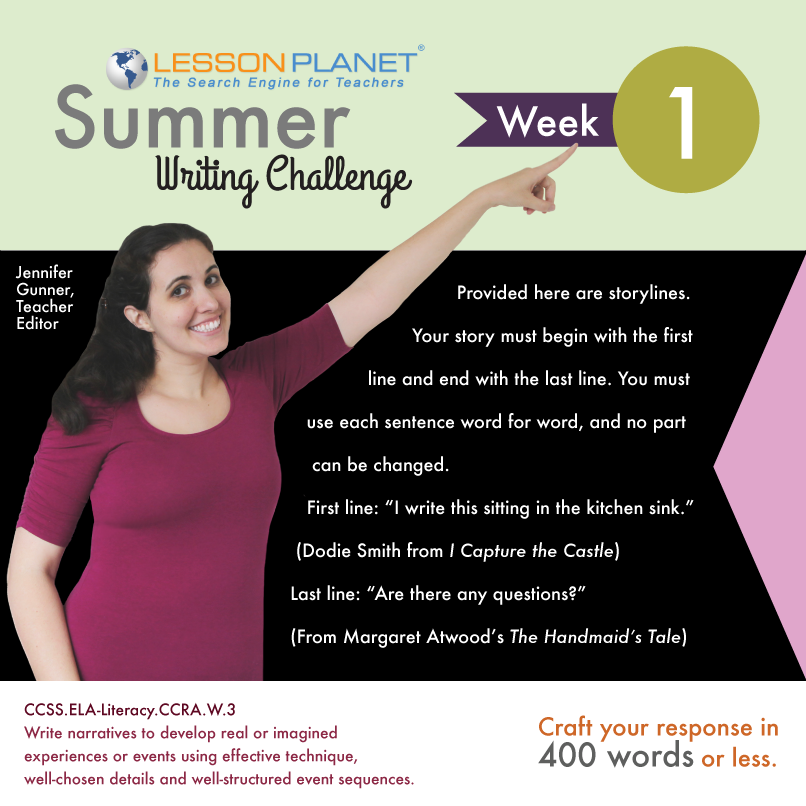 Lesson Planet Summer Writing Challenge Week #1