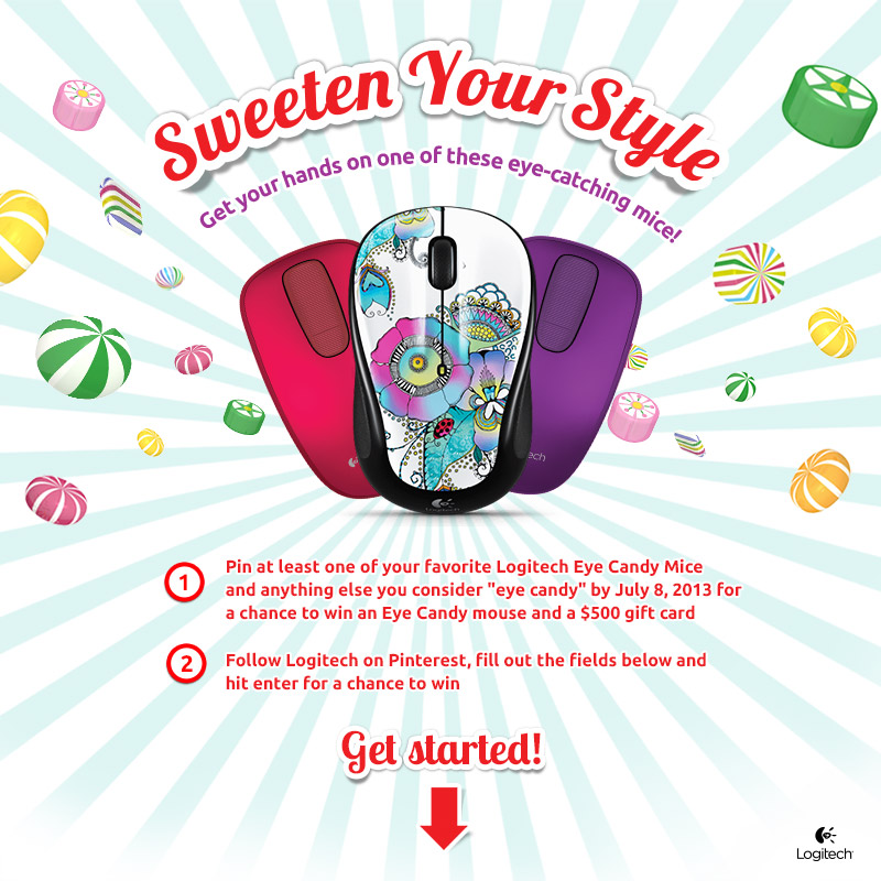 Logitech Eye Candy Sweepstakes (X 7/8/13)
