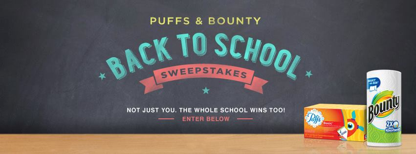 Back to School Sweepstakes with Puffs & Bounty