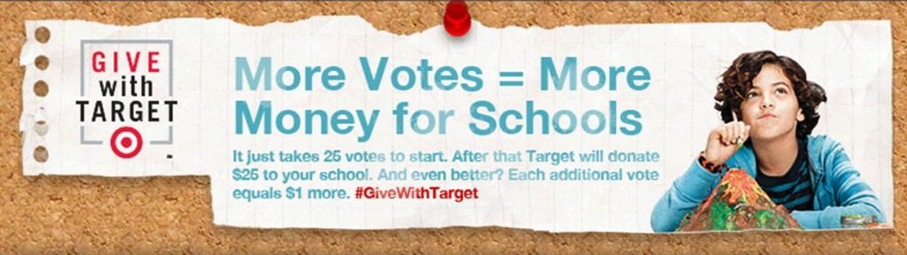 #GiveWithTarget FREE Money for Schools (X 9/21/13)