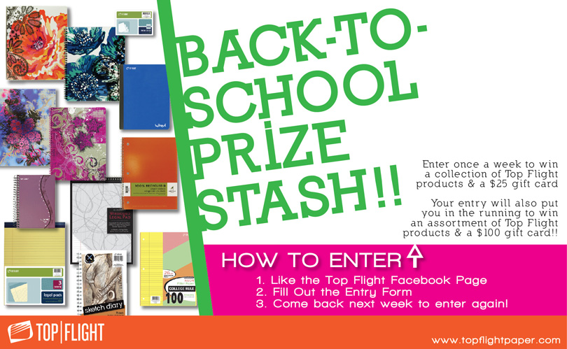 @TopFlightPaper #BackToSchool Sweepstakes Week 6