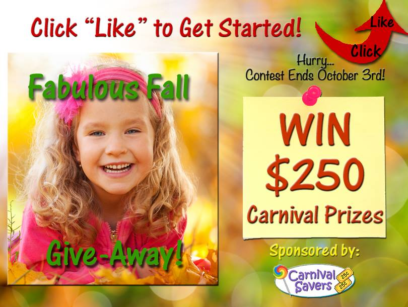Carnival Savers Fabulous Fall Give-Away (X 10/3/13)
