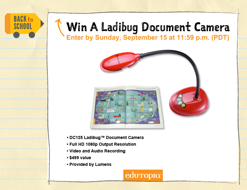 @LumensLadibug @Edutopia #TeacherGiveaway