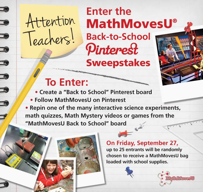 @MathMovesU #BackToSchool Pinterest Sweepstakes (X 9/27/13)