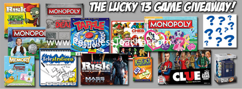 @USAopoly Lucky 13 Games #Giveaway #K12 Dec 25