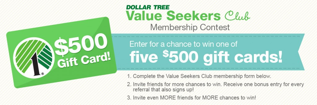 DollarTree $500 Giveaway
