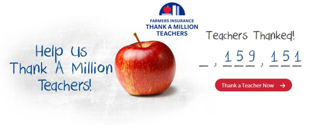 @WeAreFarmers Thank a Million #Teachers Grant (X 8/31/14)