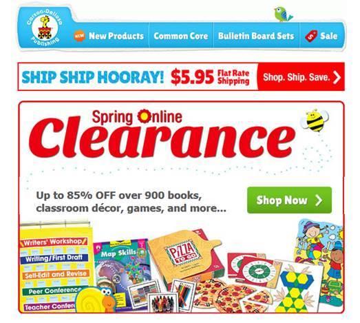 Carson-Dellosa Clearance Sale (@CDPub)