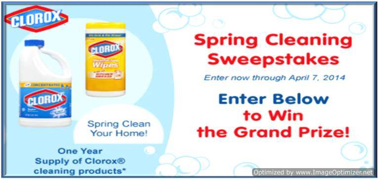 @Clorox @LittleTikes Spring Cleaning Sweepstakes (X 4/7/14)