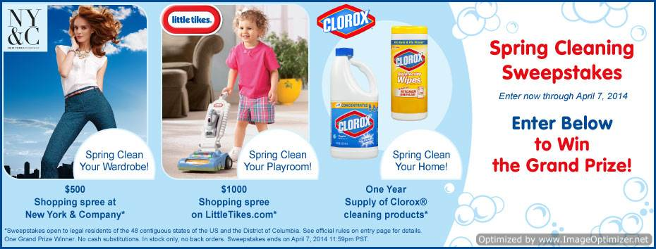 @LittleTikes @Clorox Spring Cleaning Sweeps