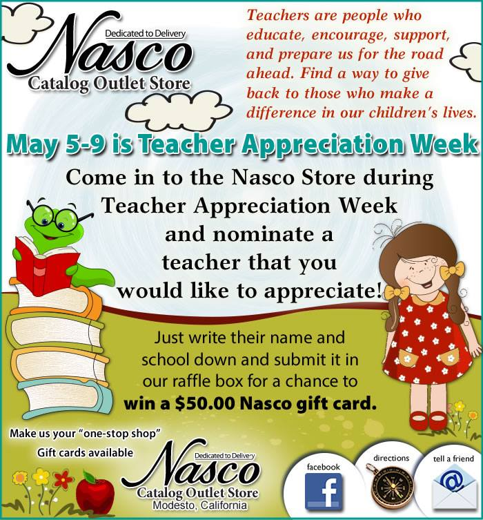 @NascoModesto Teacher Appreciation #Giveaway (X 5/12/14)