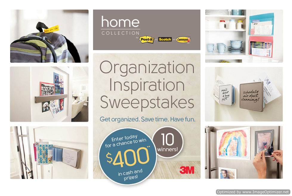 @PostItProducts Organization Inspiration Sweepstakes (X 6/29/14)