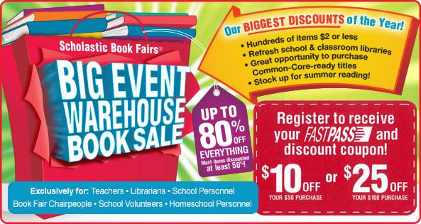 Scholastic Book Fairs Warehouse Sale 4/14