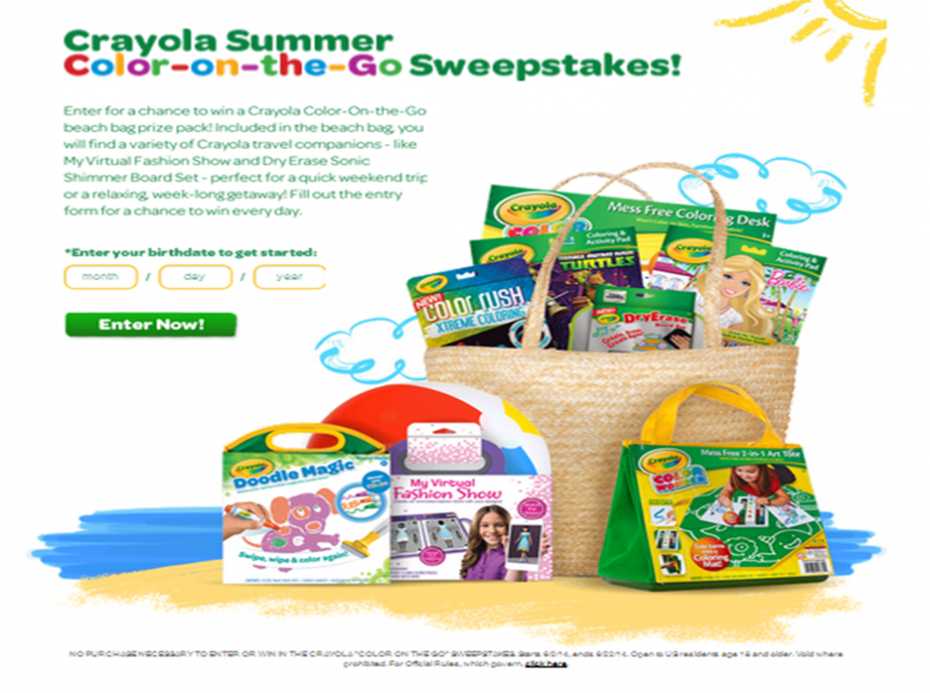 Summer Color-on-the-Go #Sweepstakes @Crayola