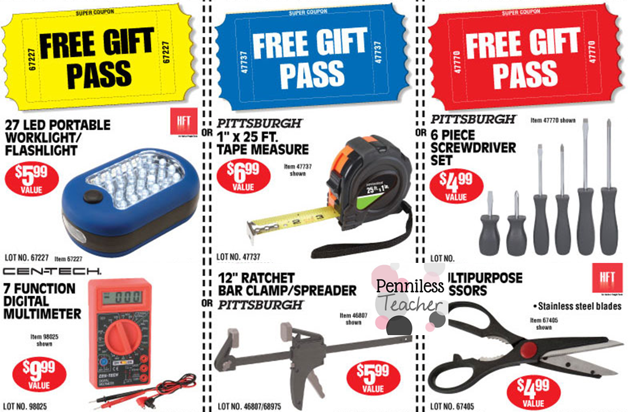 Harborfreight Free Tools X 6 15 14