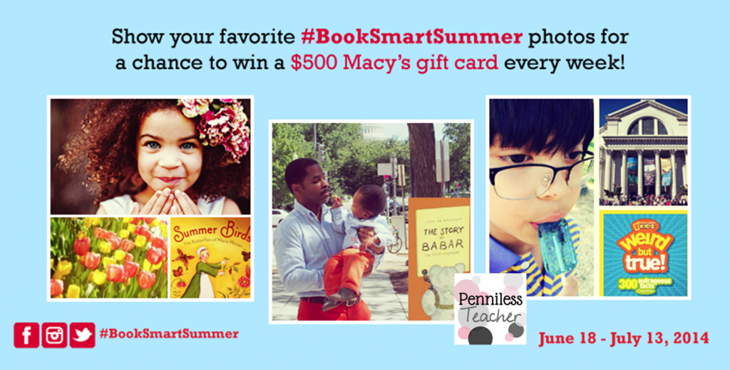 #BookSmartSummer $500 Macy's Gift Card Week 4