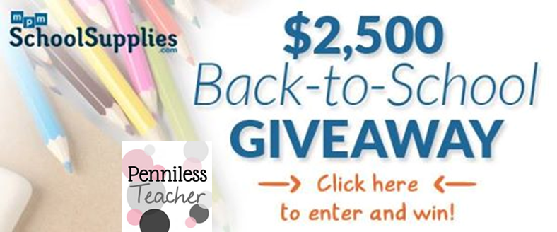 $2,500 Back to School #Giveaway @MPMSchoolSupply