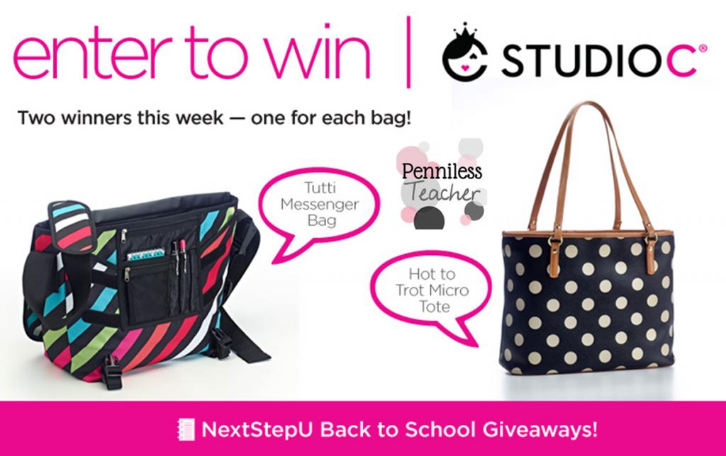 @NextStepU & @ShopStudioC Tote #Giveaway (X 7/31/14)