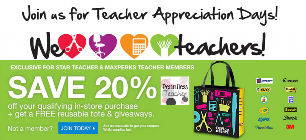 @OfficeMaxDeal & @OfficeDepot Teacher Appreciation Days 2014