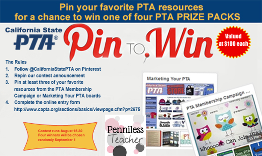 Pin to #Win .@CaliforniaPTA (X 9/1/14)