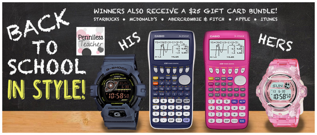 @CasioPrizm #BackToSchool in Style #Giveaway (X 9/6/14)