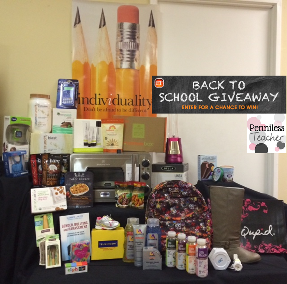 #BackToSchool Gift Bag #Giveaway .@BackstageEvents  .@ETnow (X 8/19/14)