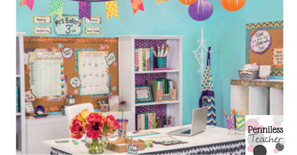 Classroom Decor Items ~ Mardel retro chic classroom decor giveaway
