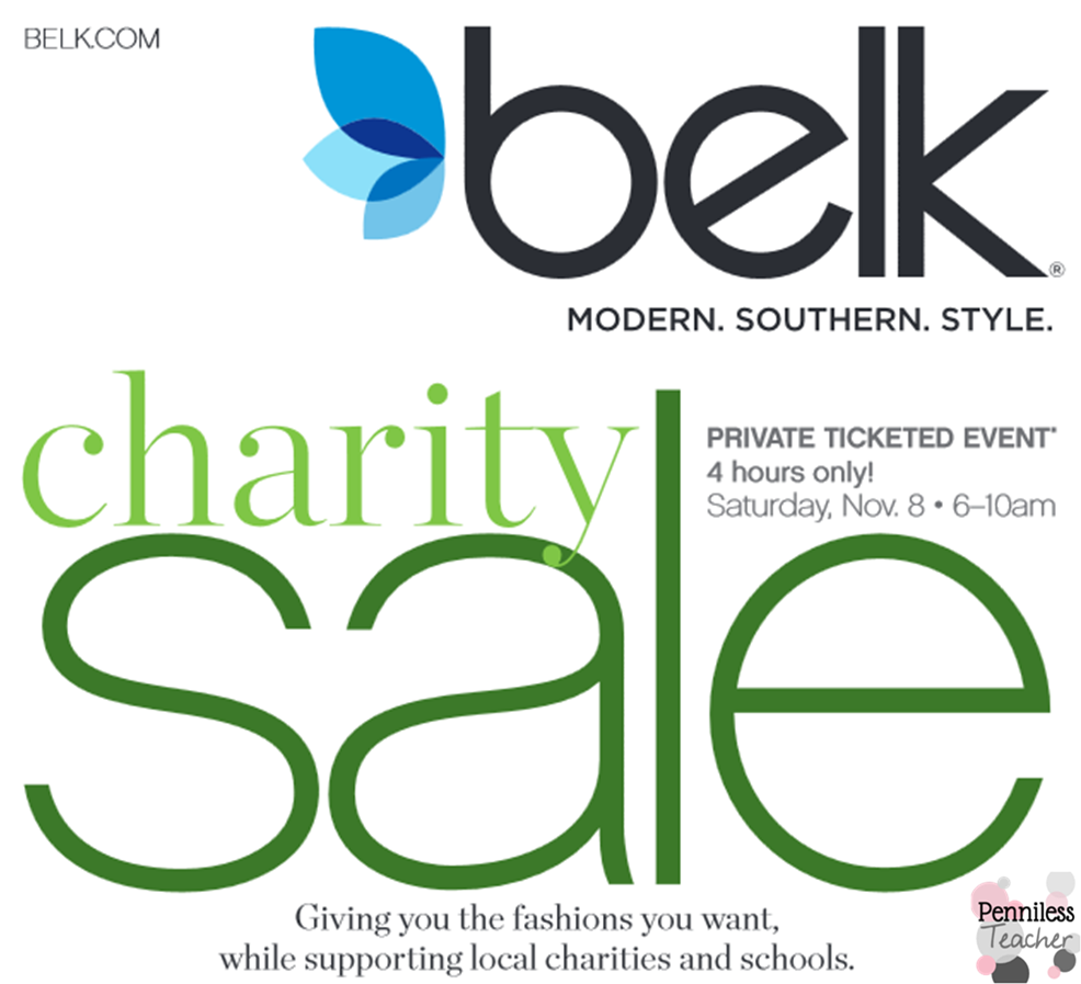 Fundraising Charity Sale .@Belk (X 10/31/14)
