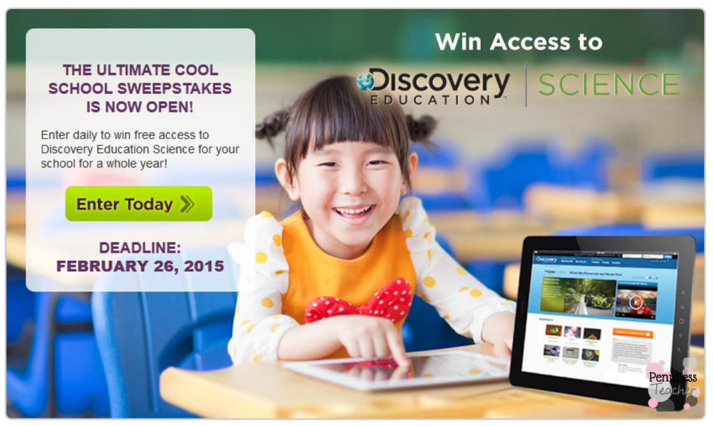 Ultimate Cool #School Sweepstakes .@SFoundation .@DiscoveryEd