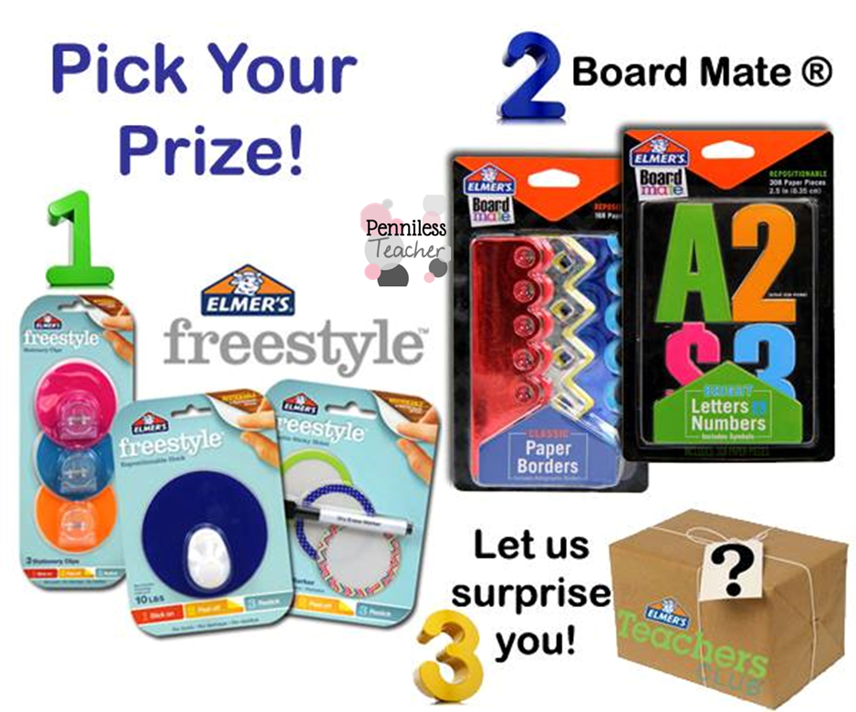 Choose Your Prize .@Elmers Teacher Club (X 9/26/14)