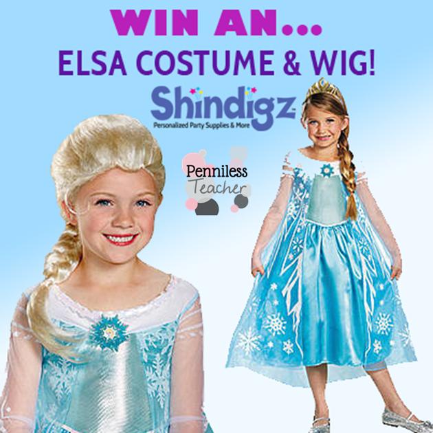 Elsa Costume #Giveaway .@Shindigz (X 10/13/14)