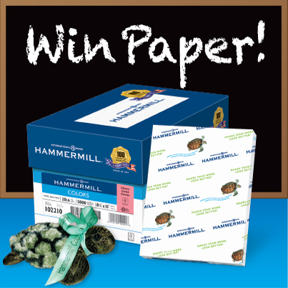 Colored Paper #TeacherGiveaway .@Hammermill (X 10/31/14)