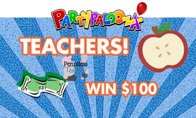 Partypalooza Dec Teacher Giveaway