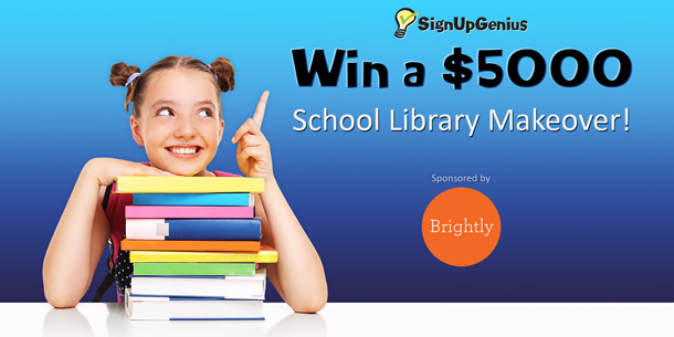 .@Readbrightly & .@SighUpGenius $5K Library Makeover