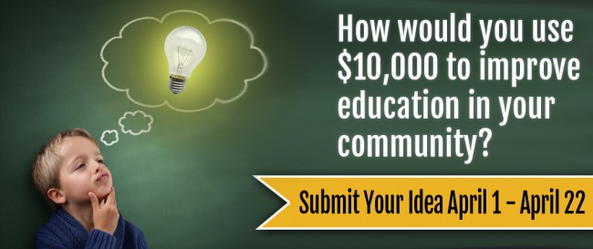Would $10,000 improve education in your community?