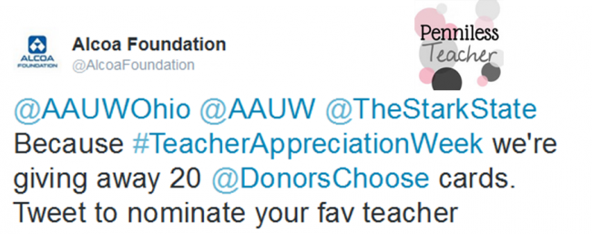 Alcoa Foundation Teacher Appreciation Giveaway