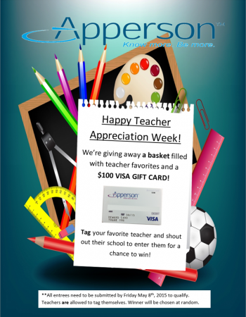 Apperson Teacher Appreciation Giveaway