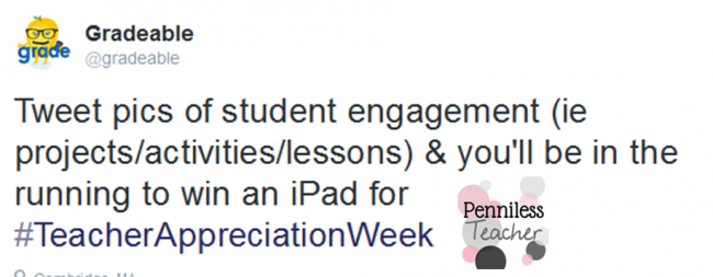 Gradable Teacher Appreciation iPad Giveaway