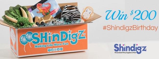 Shindigz $200 Birthday Giveaway