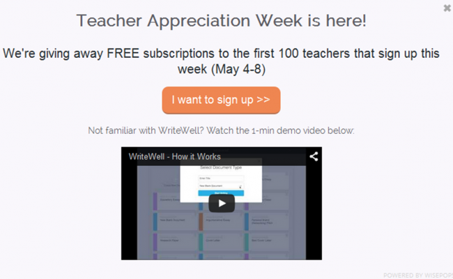 WriteWell Teacher Appreciation Giveaway